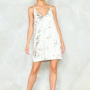 NWT from NastyGal sequin party dress